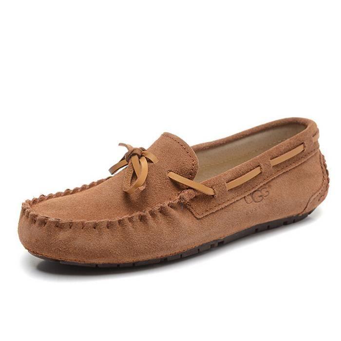 marron chaussures mocassin sport nubuck femme ugg australia marron tu achat vente escarpin. Black Bedroom Furniture Sets. Home Design Ideas