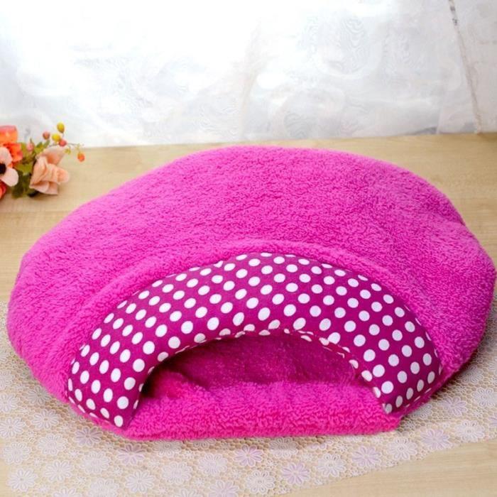 lit coussin sac de couchage lit en peluche doux pour chien chat 55cm 45cm achat vente. Black Bedroom Furniture Sets. Home Design Ideas