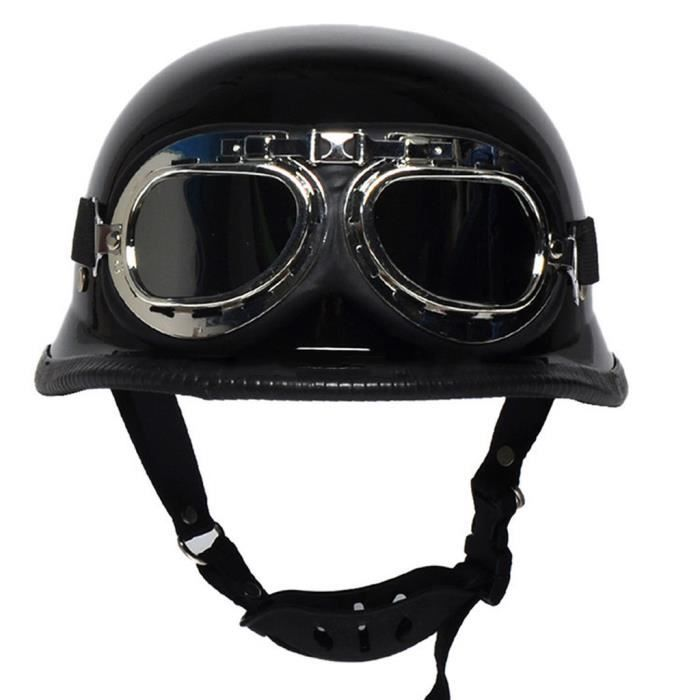 noir m l xl lunettes mod le allemand vintage casque moto achat vente casque moto scooter. Black Bedroom Furniture Sets. Home Design Ideas