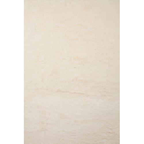 Tapis contemporain pilepoil blanc 140 x 200 cm fausse fourrure fabrication fran aise - Tapis fausse fourrure blanc ...