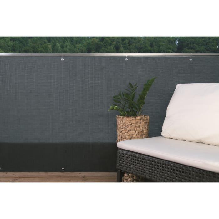 Ecran brise vue aeris brun fonc 1x5m occ 85 achat vente cl ture grillage brise vue brun for Ecran de jardin synthetique