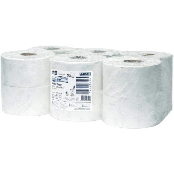 rouleaux de papier toilette pt mini jumbo blanc achat vente essuie tout rouleaux de papier. Black Bedroom Furniture Sets. Home Design Ideas