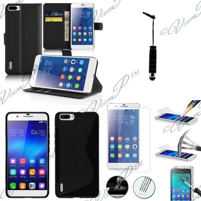 Pour huawei honor 6 plus honor 6x lot 4 accessoires for Housse honor 6x