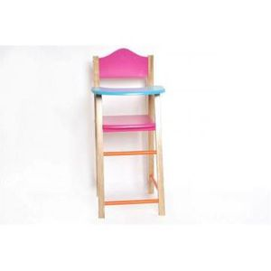 chaise haute en bois pour poupee achat vente jeux et jouets pas chers. Black Bedroom Furniture Sets. Home Design Ideas