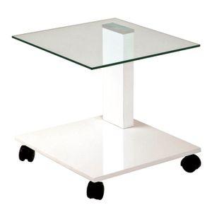 Gueridon blanc laque achat vente gueridon blanc laque - Table d appoint laque blanc ...