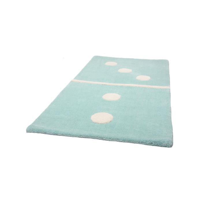 1 pied sur terre tapis enfants domino turquoise 60x120 cm achat vente tap - Tapis enfant turquoise ...