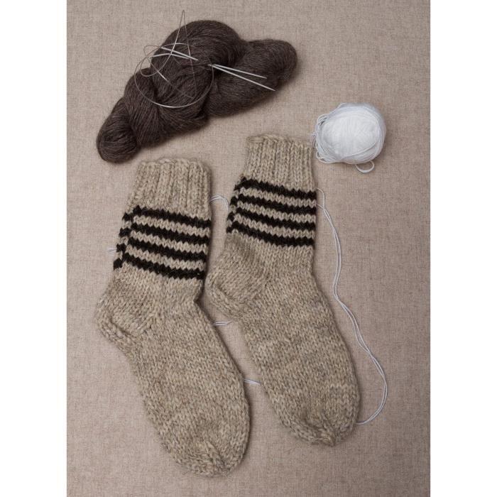 chaussettes en laine pour homme faites main gris noir achat vente chaussettes 2009918663909. Black Bedroom Furniture Sets. Home Design Ideas