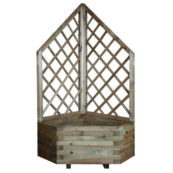 Jardini re d 39 angle treillage ch vrefeuille achat - Jardiniere d angle ...