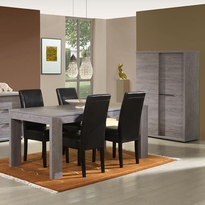 Buffet haut couleur ch ne gris moderne armony avec table for Buffet haut moderne