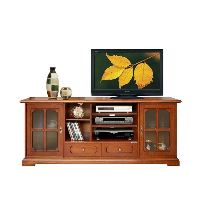 meuble tv hi fi lcd classique en bois achat vente meuble tv meuble tv hi fi lcd cdiscount. Black Bedroom Furniture Sets. Home Design Ideas