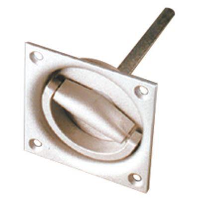 Poignee cuvette a encastrer aluminium achat vente for Poignee de porte carre