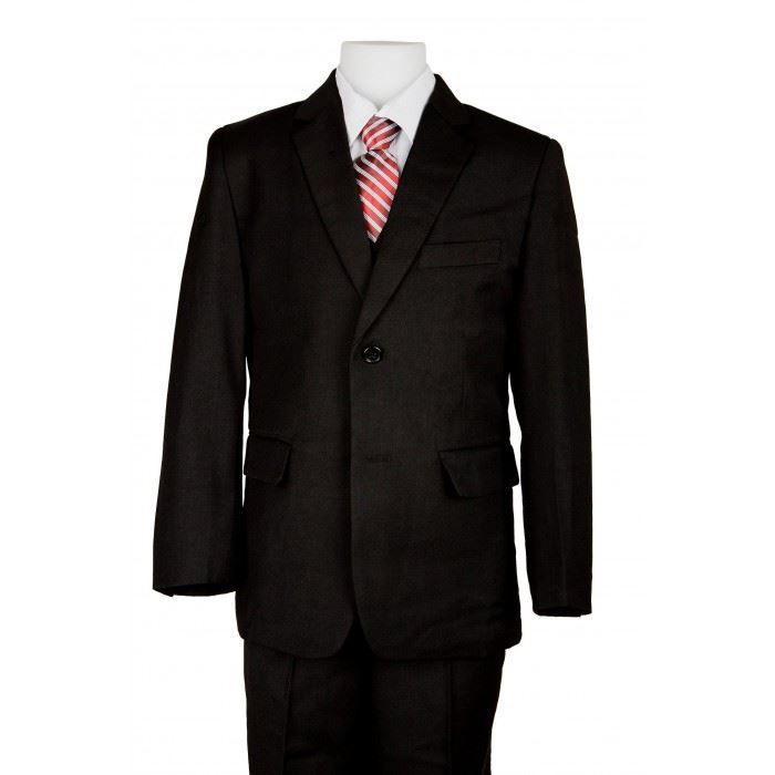 costume garcon complet cravate noir achat vente costume tailleur costume garcon complet. Black Bedroom Furniture Sets. Home Design Ideas