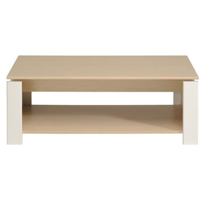 Table basse granby erable blanc achat vente table for Meuble granby