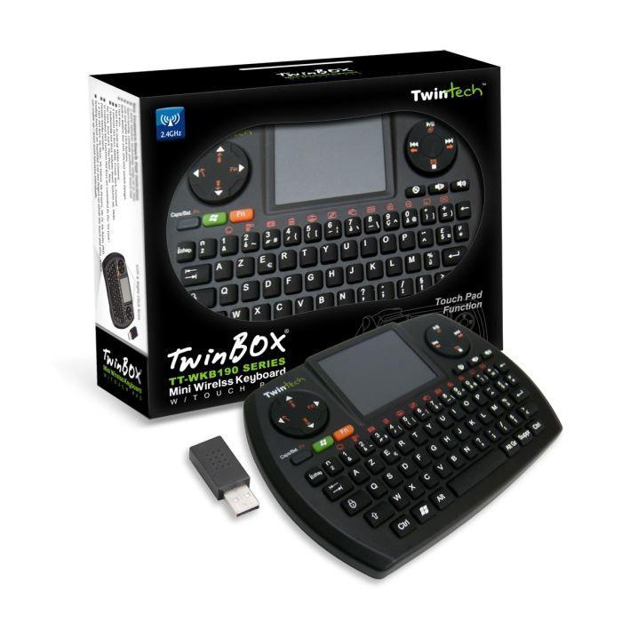 twintech mini clavier sans fil usb azerty achat vente clavier d 39 ordinateur twintech mini. Black Bedroom Furniture Sets. Home Design Ideas
