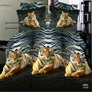 housse de couette tigre achat vente housse de couette tigre pas cher cdiscount. Black Bedroom Furniture Sets. Home Design Ideas