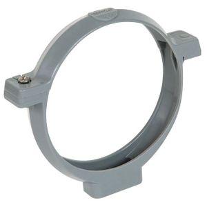 Collier de fixation gris pour tuyau pvc 100 achat for Fixation pour fenetre pvc