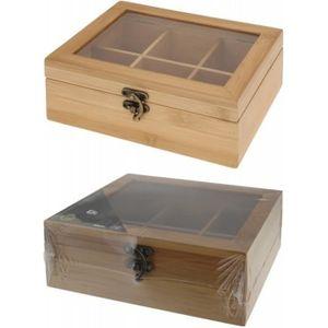 Boite a the compartiment achat vente boite a the compartiment pas cher cdiscount - Boite a the 9 compartiments ...