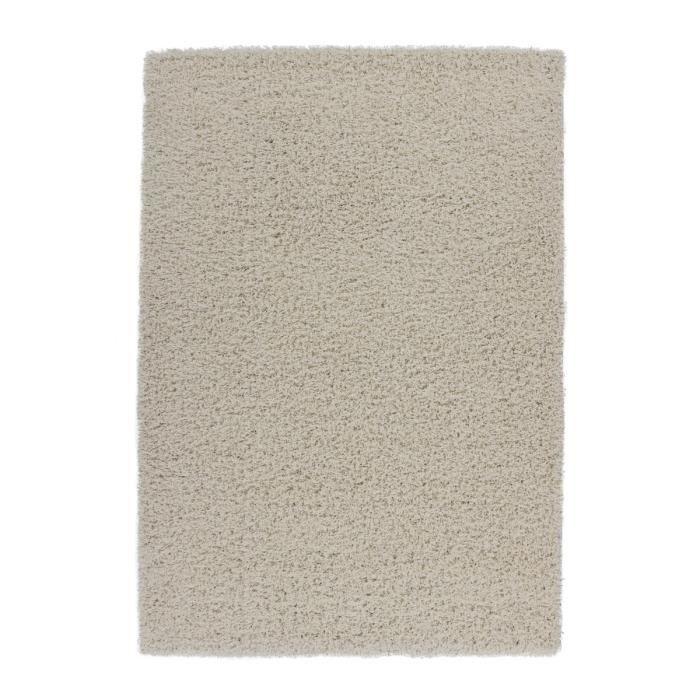 tapis de salon ivoire shaggy 50 mm moderne dessin 140x200 cm achat vente tapis cdiscount. Black Bedroom Furniture Sets. Home Design Ideas