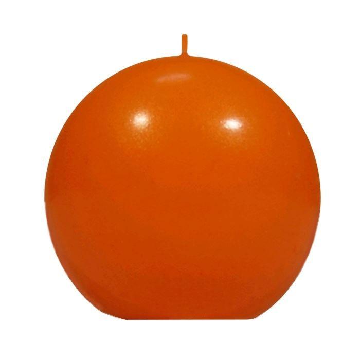 bougie boule ronde coloree orange achat vente bougie d corative 100 coton cdiscount. Black Bedroom Furniture Sets. Home Design Ideas