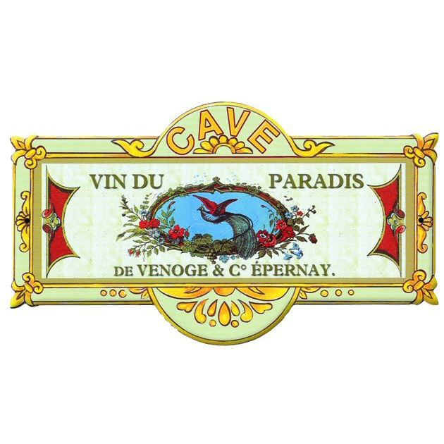 Plaque metal de porte cave a vins du paradis mp191 achat for Plaque de porte decorative