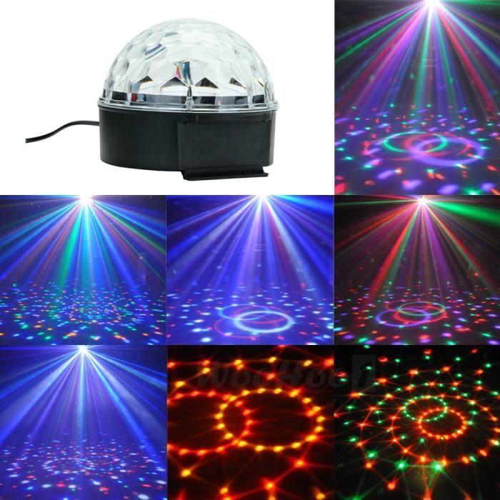 ampoule clairage scne led 6x1w 6 couleurs projecteur boule lampe 180aut - Luminaire Boules Colores