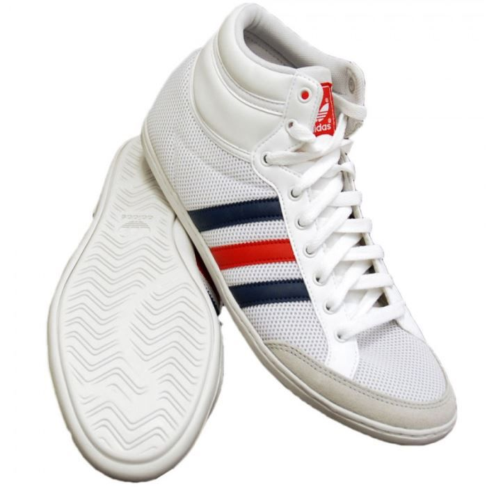 basket adidas plimcana mid blanc rouge rouge achat. Black Bedroom Furniture Sets. Home Design Ideas
