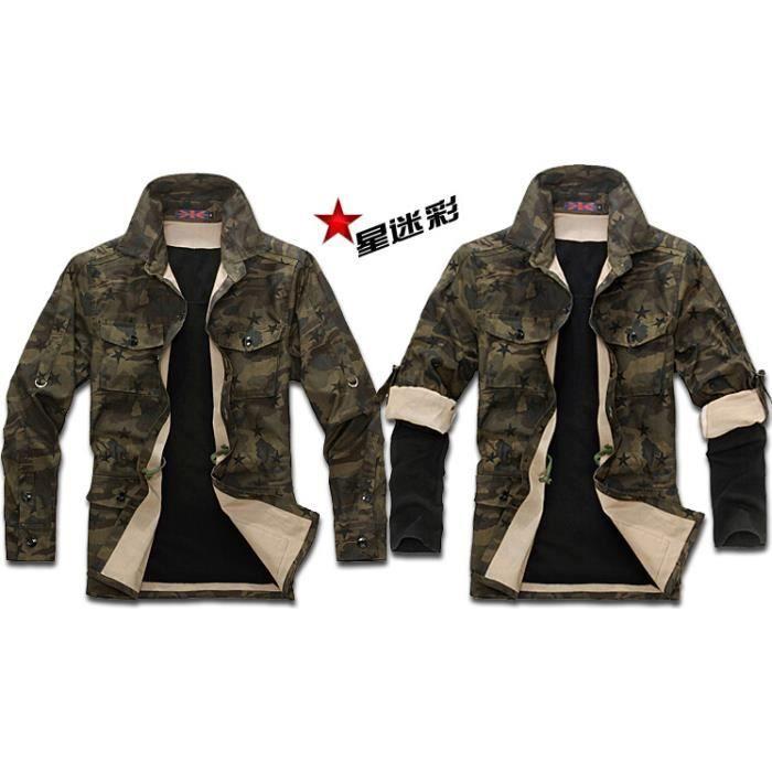 2015 vestes pour hommes sport veste de camouflage achat vente blouson cdiscount. Black Bedroom Furniture Sets. Home Design Ideas