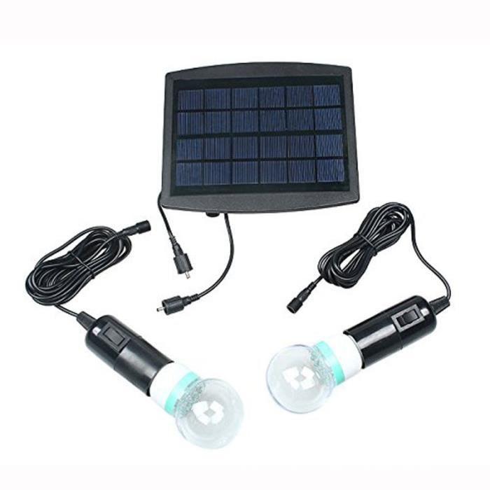 lampe solaire encastrables pour terrasse 40 led 2 ampoule solaire bsv sl140 6v 2 5w panneaux. Black Bedroom Furniture Sets. Home Design Ideas