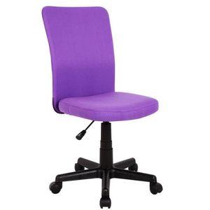 chaise de bureau violet achat vente chaise de bureau violet pas cher cdiscount. Black Bedroom Furniture Sets. Home Design Ideas