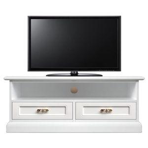 MEUBLE TV Meuble TV barre de son 2 tiroirs
