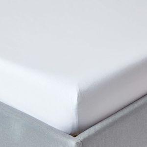 Drap housse blanc 140x200 achat vente drap housse - Drap housse 140x200 pas cher ...