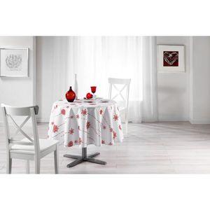 nappe rouge et blanc achat vente nappe rouge et blanc pas cher cdiscount. Black Bedroom Furniture Sets. Home Design Ideas