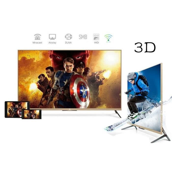 mi 4k 3d t l viseur full hd tv hd led 123 cm 49 t l viseur led avis et prix pas cher. Black Bedroom Furniture Sets. Home Design Ideas