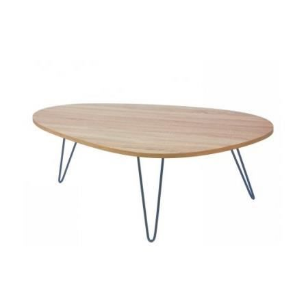 Table basse design en bois et m tal charlot achat for Table bois metal design