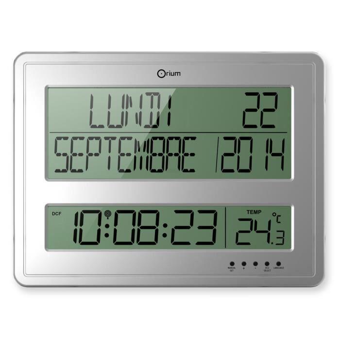 horloge calendrier a piles achat vente horloge calendrier a piles pas cher cdiscount. Black Bedroom Furniture Sets. Home Design Ideas