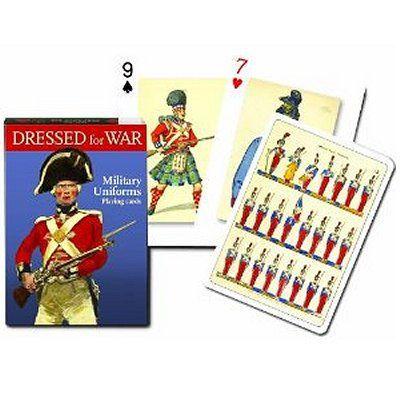 Jeu de 54 cartes Uniforme militaire Jeu de 52 cartes avec 2 jokers