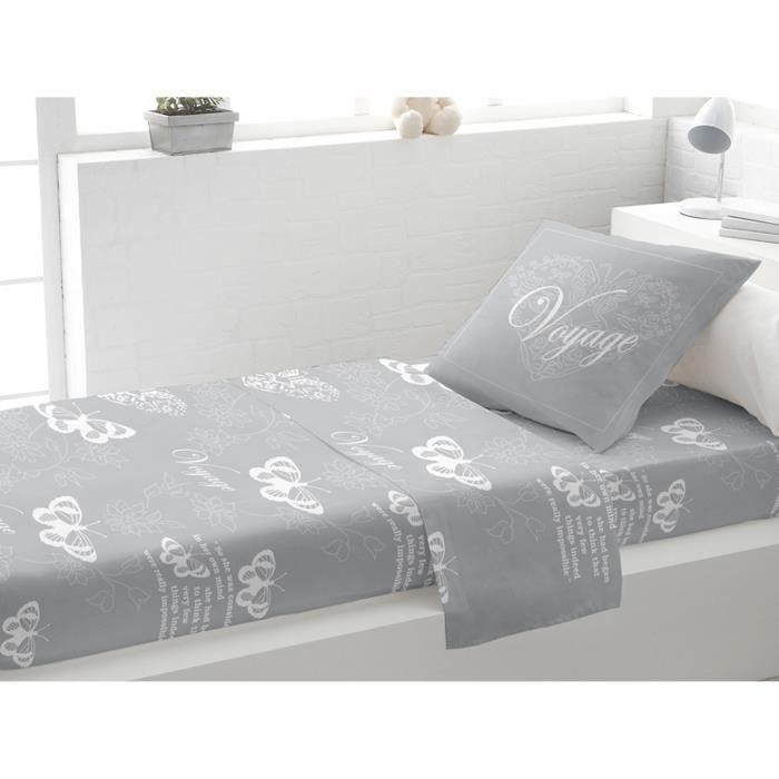 parure de lit coton 1 place voyage gris par soleil d 39 ocre achat vent. Black Bedroom Furniture Sets. Home Design Ideas