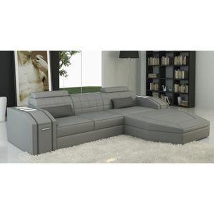 meridienne cuir achat vente meridienne cuir pas cher cdiscount. Black Bedroom Furniture Sets. Home Design Ideas