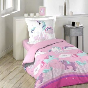 housse de couette little pony achat vente housse de couette little pony pas cher cdiscount. Black Bedroom Furniture Sets. Home Design Ideas