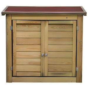 Armoire de rangement jardin achat vente armoire de for Petit chalet en bois pas cher