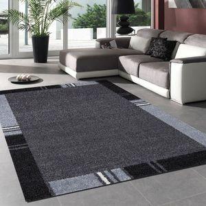 tapis gris 200x290 achat vente tapis gris 200x290 pas cher cdiscount. Black Bedroom Furniture Sets. Home Design Ideas