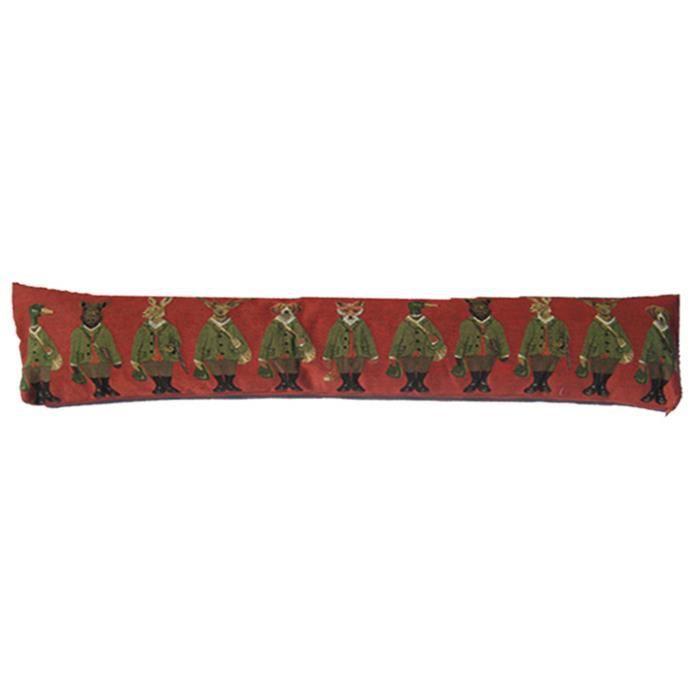 Boudin de porte animaux chasseurs rouge achat vente - Boudin de porte 90 cm ...