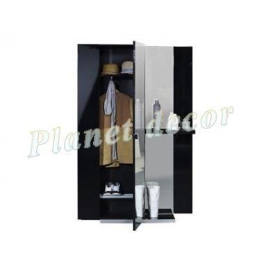 vestiaire d'entrée design vertigo noir - achat / vente meuble d ... - Meuble Vestiaire Design