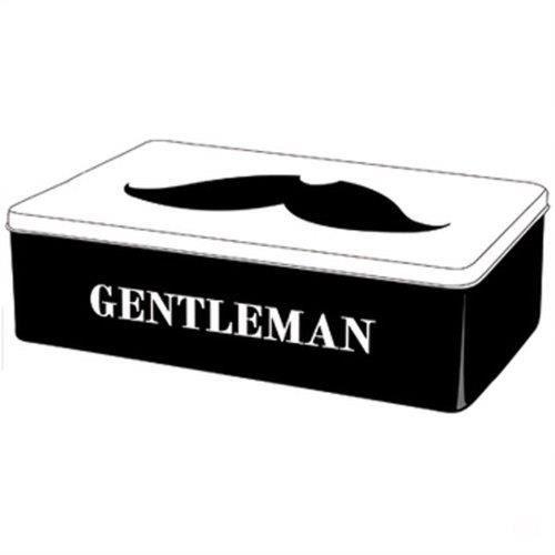 boite m tal rectangulaire moustache gentleman achat vente armoire boite a cl m tal. Black Bedroom Furniture Sets. Home Design Ideas