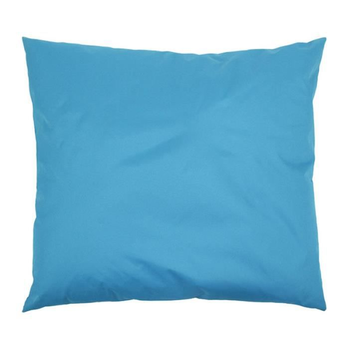 Coussin g ant multipositions xxl int rieur ext rieur 90x90cm bleu turquoise - Coussin xxl conforama ...