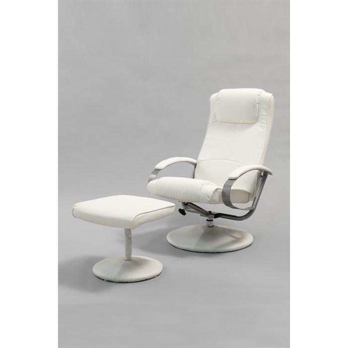 Fauteuil de relaxation relax blanc achat vente - Fauteuils de relaxation ...