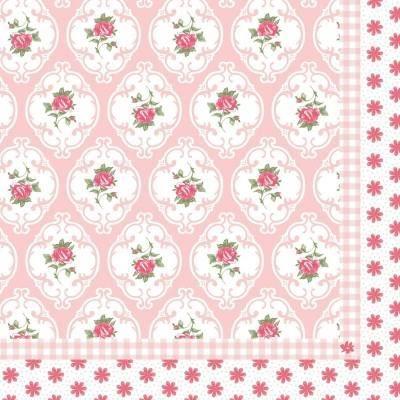 lot de 20 serviettes en papier fleuri rose liberty achat vente serviette jetable lot de 20. Black Bedroom Furniture Sets. Home Design Ideas