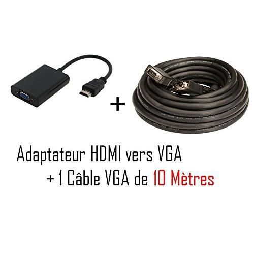 cabling c ble hdmi m le vers vga femelle vid o adaptateur convertisseur cordon vga 10 m tres. Black Bedroom Furniture Sets. Home Design Ideas