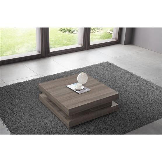 Table basse design harmine bois fonc achat vente for Table basse bois fonce