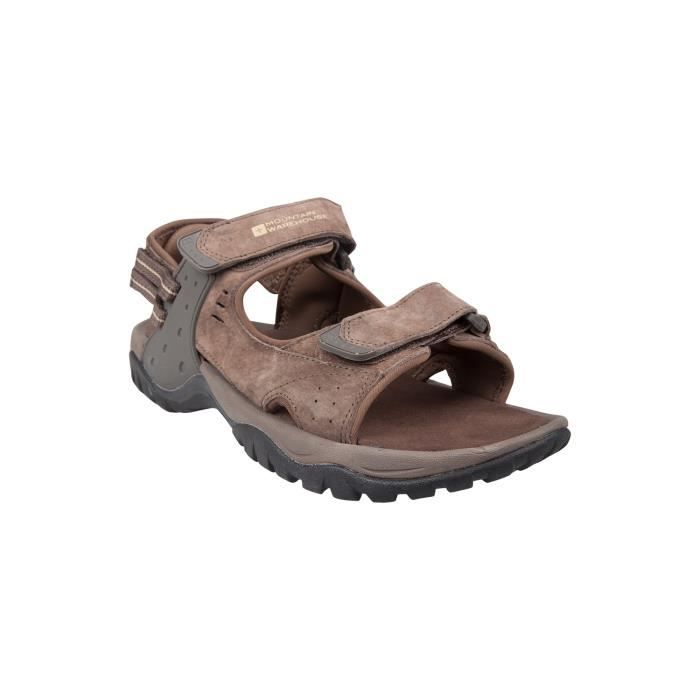 cayman sandales homme randonn e marche voyage confort r glable velcro en suede marrons achat. Black Bedroom Furniture Sets. Home Design Ideas